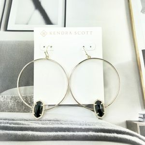 Kendra Scott Elora black gold earrings